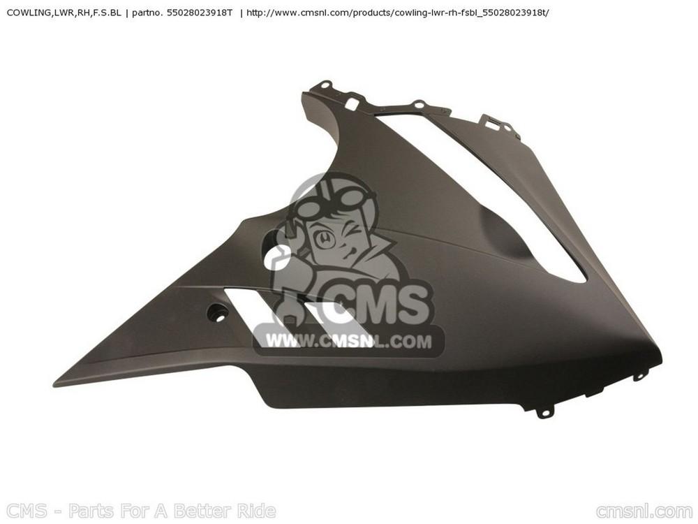 CMS シーエムエス COWLING,LWR,RH,F.S.BL EX650C9F NINJA 650R 2009 USA
