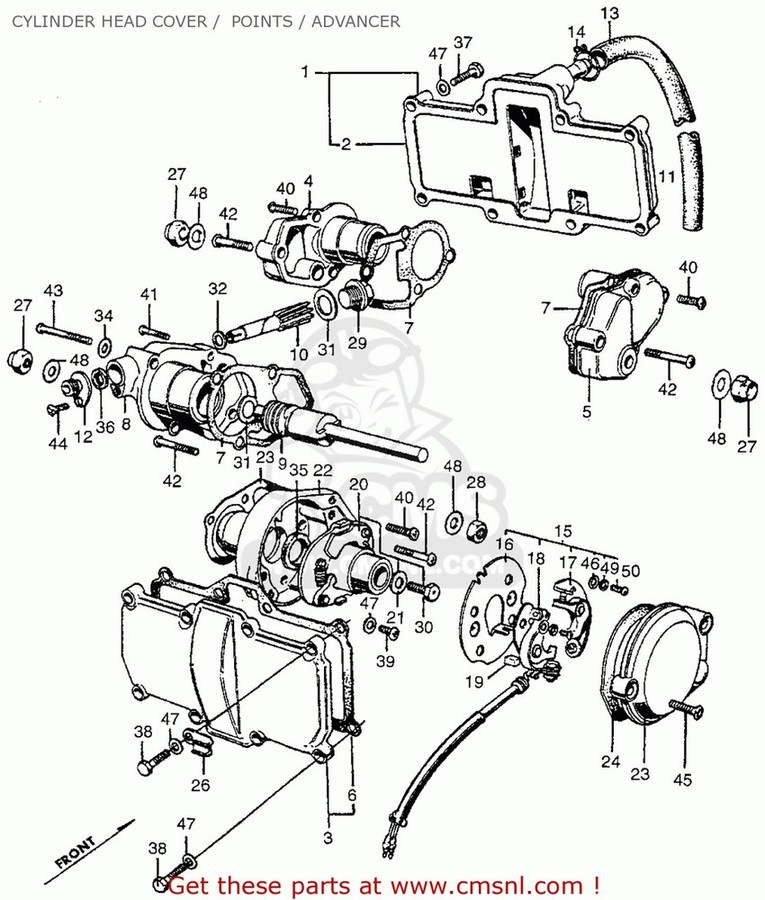 CMS シーエムエス その他エンジンパーツ COVER A, CYL HD CB450K1 1968 USA