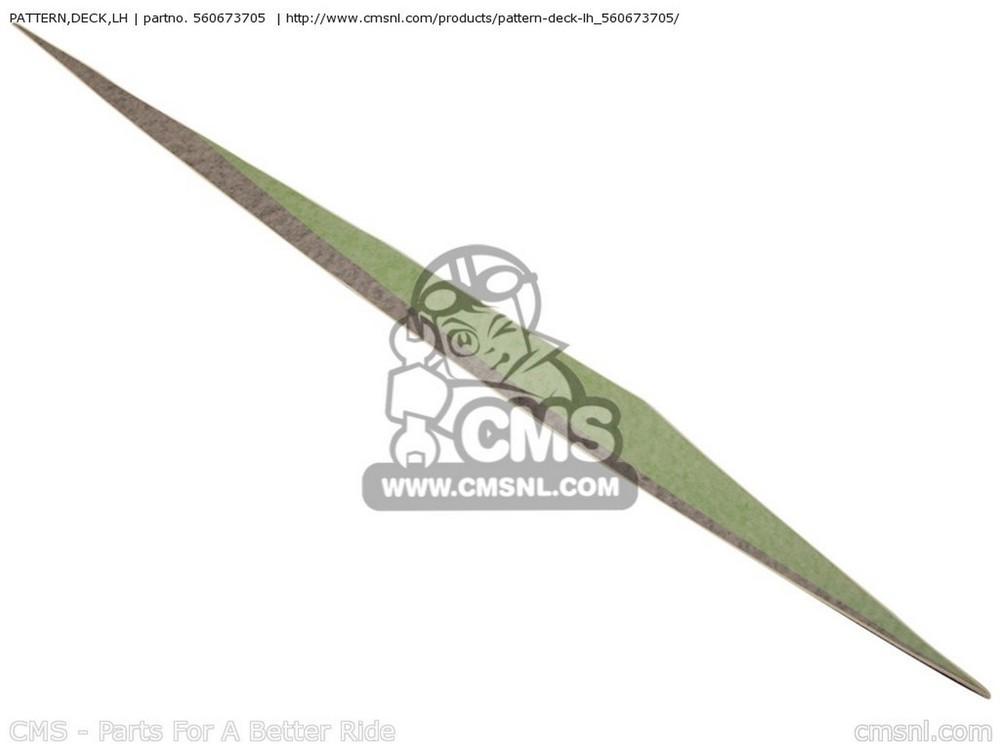 CMS シーエムエス PATTERN,DECK,LH JS800-A6F JETSKI800 SX-R 2006 USA