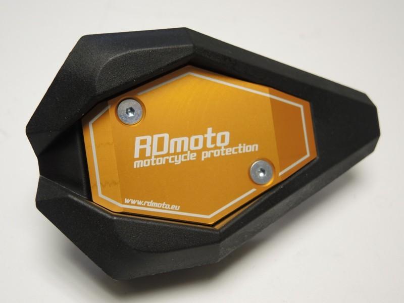 RDmoto アールディーモト ガード・スライダー クラッシュスライダー・ガード(Crash sliders) アルマイトカラー:ゴールドアルマイト スライダーベースカラー:ホワイト SV650 N 03-06 SV650 S 03-06