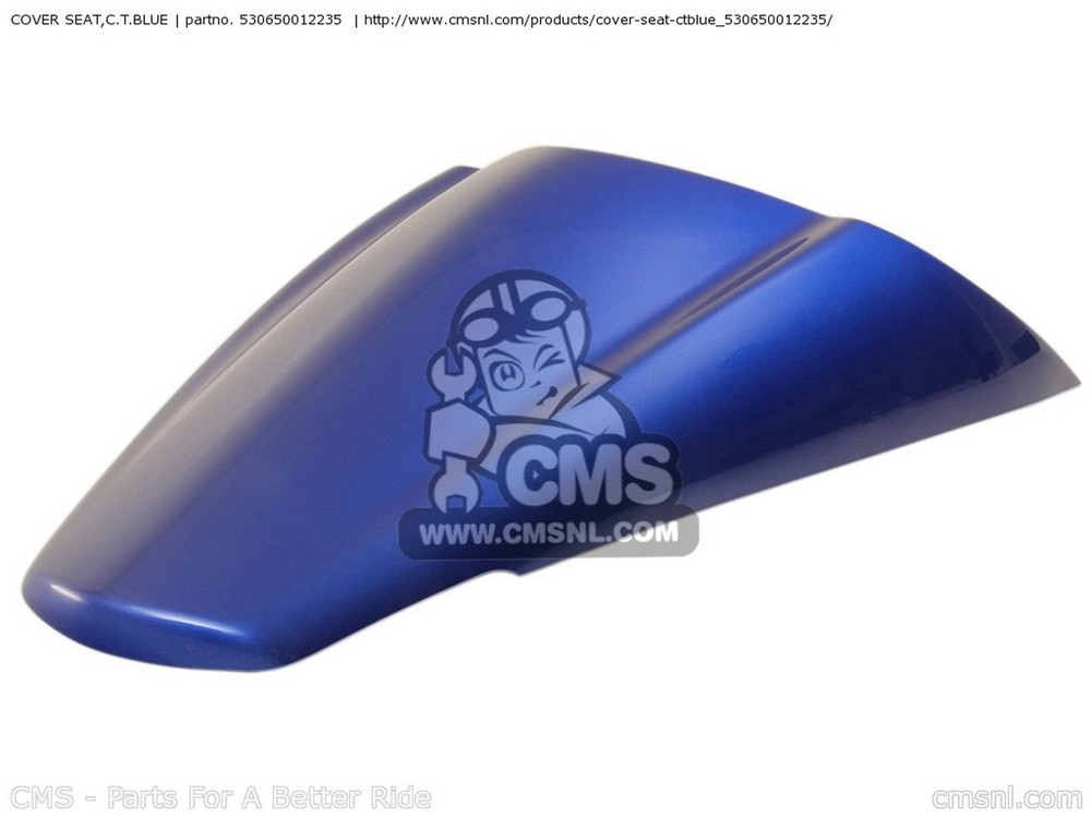 CMS シーエムエス COVER SEAT,C.T.BLUE ZX1400A6F NINJA ZX14 USA CALIFORNIA CANADA