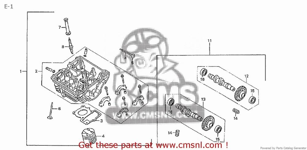 CMS シーエムエス その他エンジンパーツ (14200-NX1-000) CAMSHAFT COMP, EX CB50V RACE DREAM50 HRC