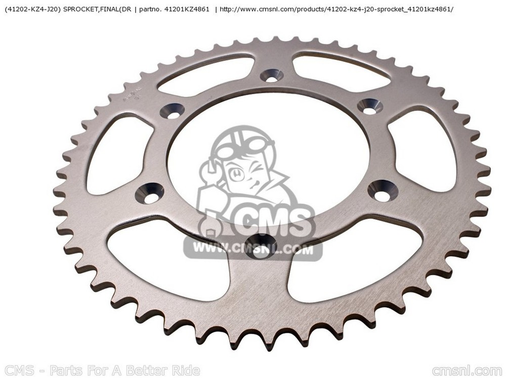 CMS シーエムエス スプロケット (41201-MEY-000) SPROCKET,FINAL(DR