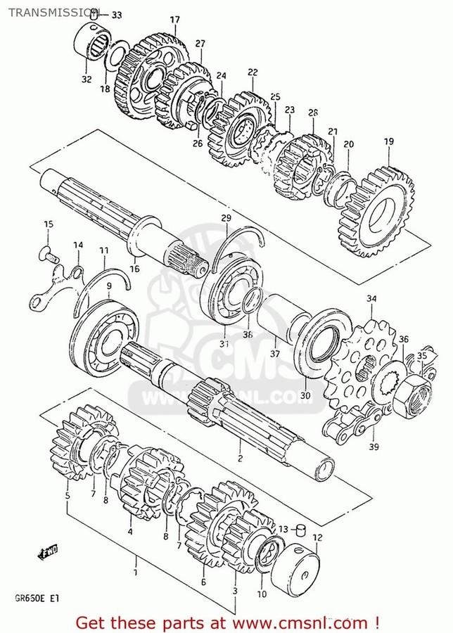CMS シーエムエス その他エンジンパーツ (27600-24F20-108) CHAIN ASSEMBLY,DRIVE GS650E 1981 (X) USA (E03) GS650E 1982 (Z) USA (E03)