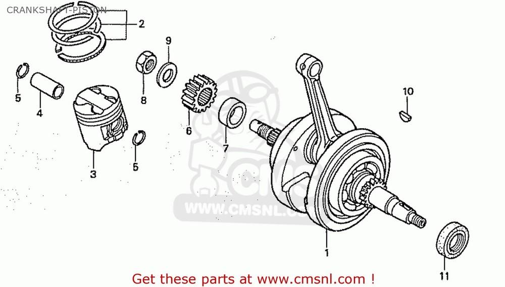 CMS シーエムエス その他エンジンパーツ (13000-GCR-020) CRANK SHAFT COMP CB50V DREAM JAPAN (11GCRVJ3)