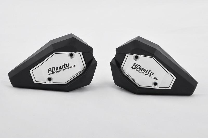 RDmoto アールディーモト ガード・スライダー クラッシュスライダー【Crash sliders】 アルマイトカラー:silver aluminium anodized スライダーベースカラー:black Z900 2017-