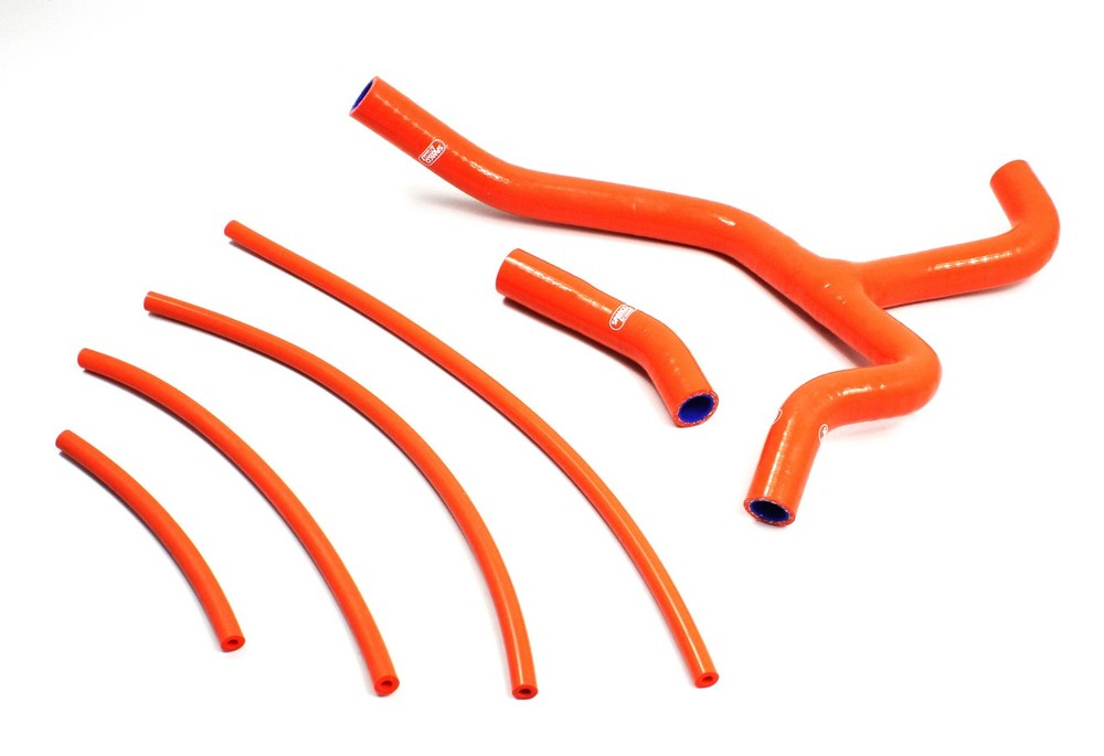 SAMCO SPORT サムコスポーツ ラジエーター関連部品 クーラントホース(ラジエーターホース) カラー:ソーラーオレンジカモ (限定色) 390 RC 2014-2017