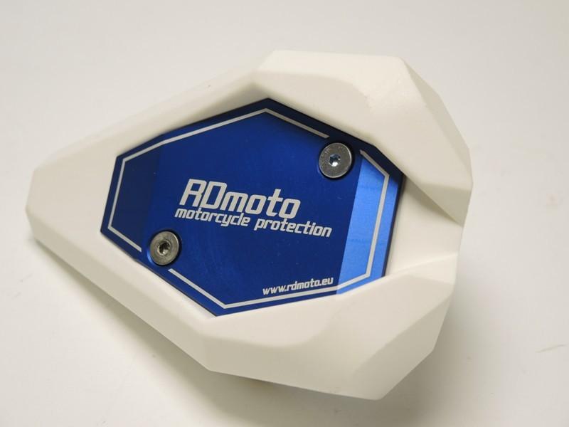 RDmoto アールディーモト ガード・スライダー クラッシュスライダー・ガード(Crash sliders) アルマイトカラー:オレンジアルマイト スライダーベースカラー:ホワイト Z1000 (水冷)