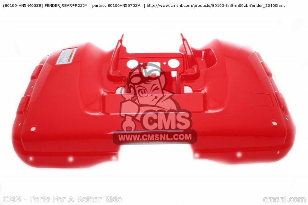 CMS シーエムエス (80100-HN5-M00ZB) FENDER,REAR*R232*