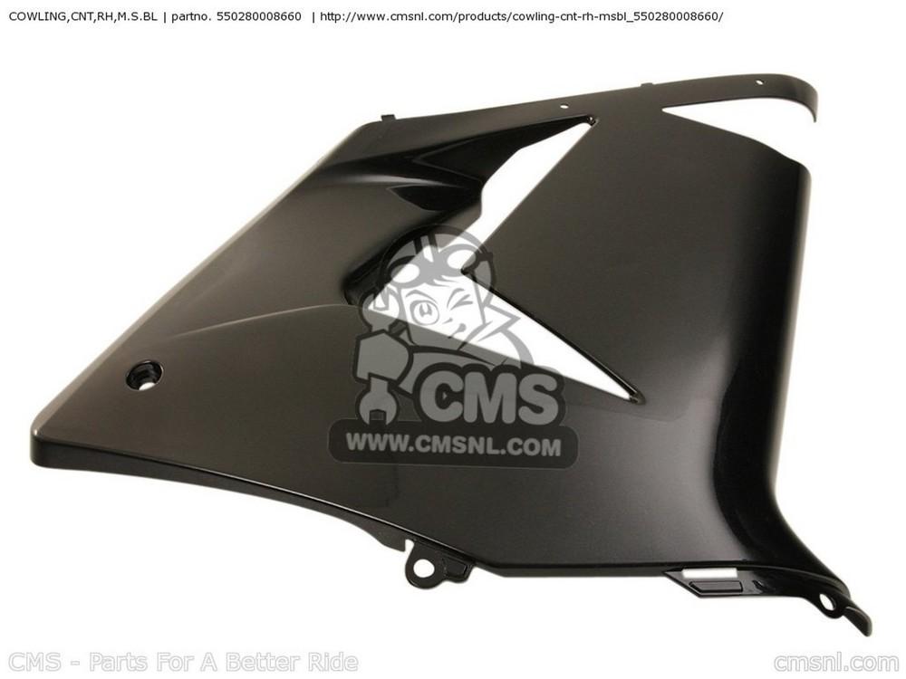 CMS シーエムエス サイドカバー COWLING,CNT,RH,M.S.BL ZX1000C1 NINJA ZX10R USA CALIFORNIA CANADA