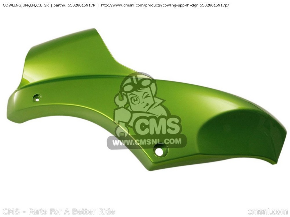 CMS シーエムエス アッパーカウル COWLING,UPP,LH,C.L.GR KLE650A9F VERSYS 2009 USA