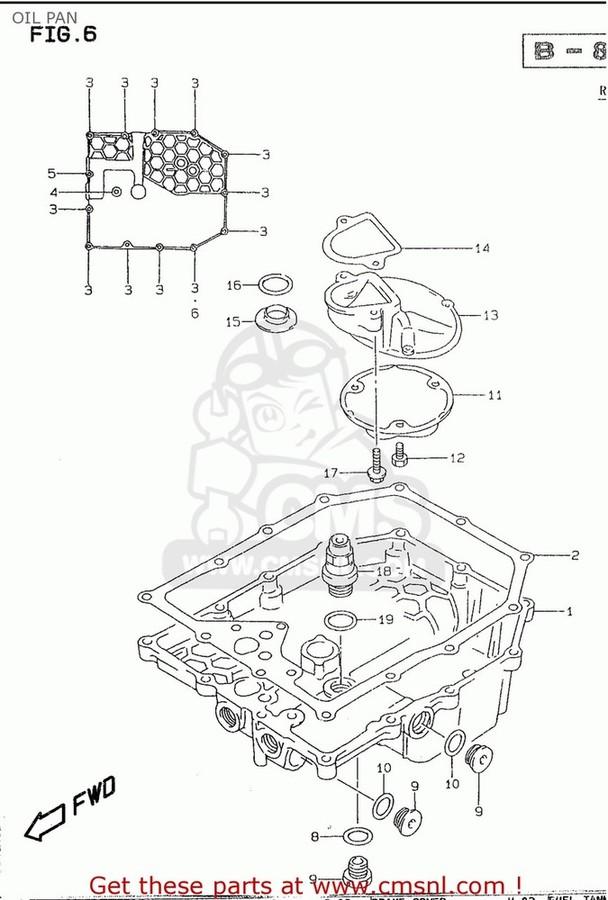 CMS シーエムエス その他エンジンパーツ (1151126E01) PAN,OIL