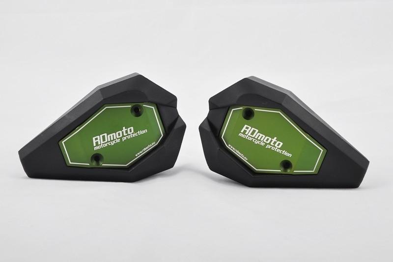 RDmoto アールディーモト ガード・スライダー クラッシュスライダー【Crash sliders】 アルマイトカラー:green aluminium anodized スライダーベースカラー:black Z900 2017-