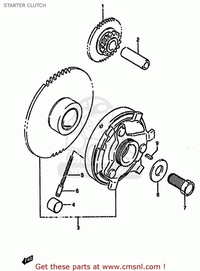 CMS シーエムエス その他エンジンパーツ (12600-33853) CLUTCH SET,STARTER