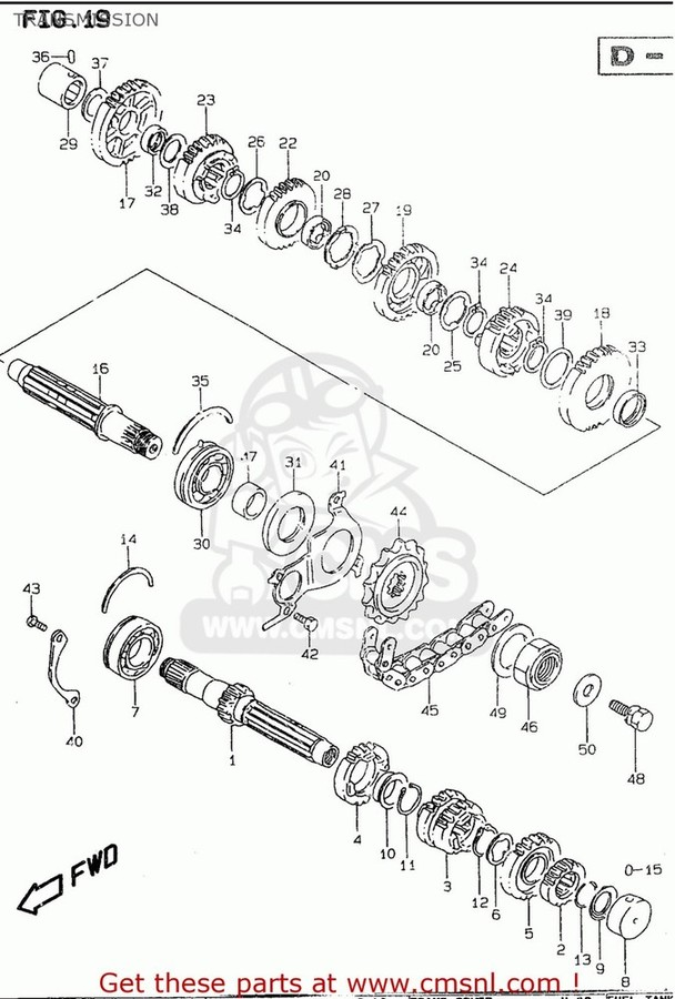 CMS シーエムエス その他エンジンパーツ (2760016G00110) CHAIN ASSEMBLY,DRIVE 110LE