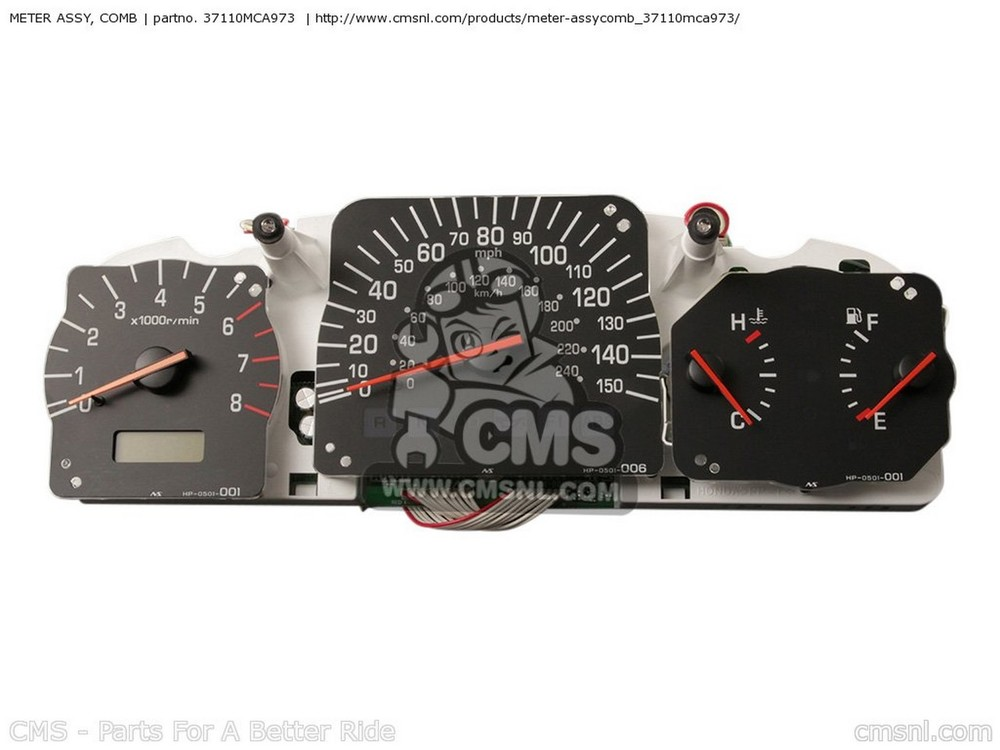 CMS シーエムエス スピードメーター METER ASSY, COMB GL1800A GOLDWING 2001 (1) USA
