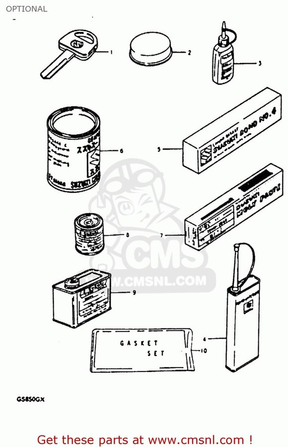 CMS シーエムエス ガスケット (11402-45840) GASKET SET