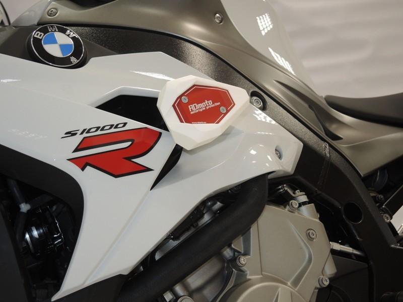 S1000R RDmoto アールディーモト ガード・スライダー (Crash sliders) クラッシュスライダー・ガード アルマイトカラー:オレンジアルマイト スライダーベースカラー:ホワイト