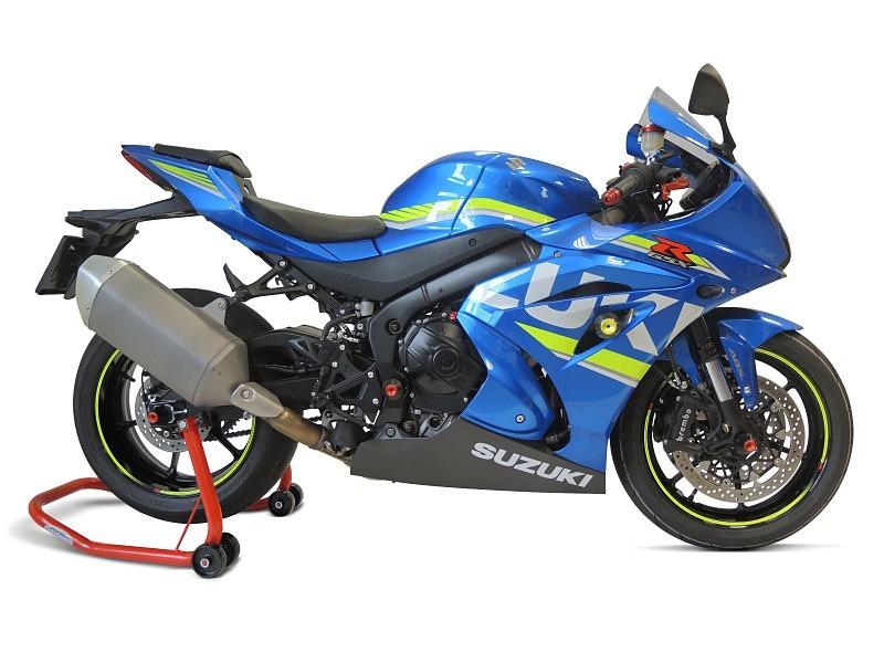 RDmoto アールディーモト ガード・スライダー クラッシュプロテクター・ガード(Crash protectors) アルマイトカラー:オレンジアルマイト スライダーベースカラー:ブラック GSX-R 1000R (2017-)