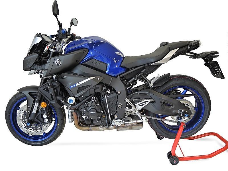 RDmoto アールディーモト ガード・スライダー クラッシュプロテクター【Crash protectors】 Colour:black polyamid Colour:silver aluminium anodized MT-10 (16-)