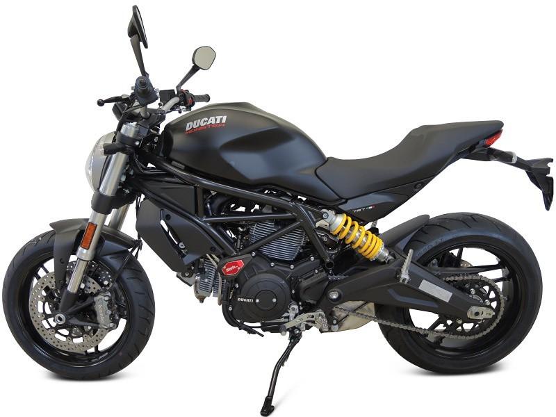 RDmoto アールディーモト ガード・スライダー クラッシュスライダー【Crash sliders】 Colour:black polyamid Colour:silver aluminium anodized Monster 797 (17-)