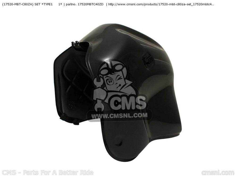 CMS シーエムエス タンク (17520-MBT-C80ZA) SET *TYPE1   1*