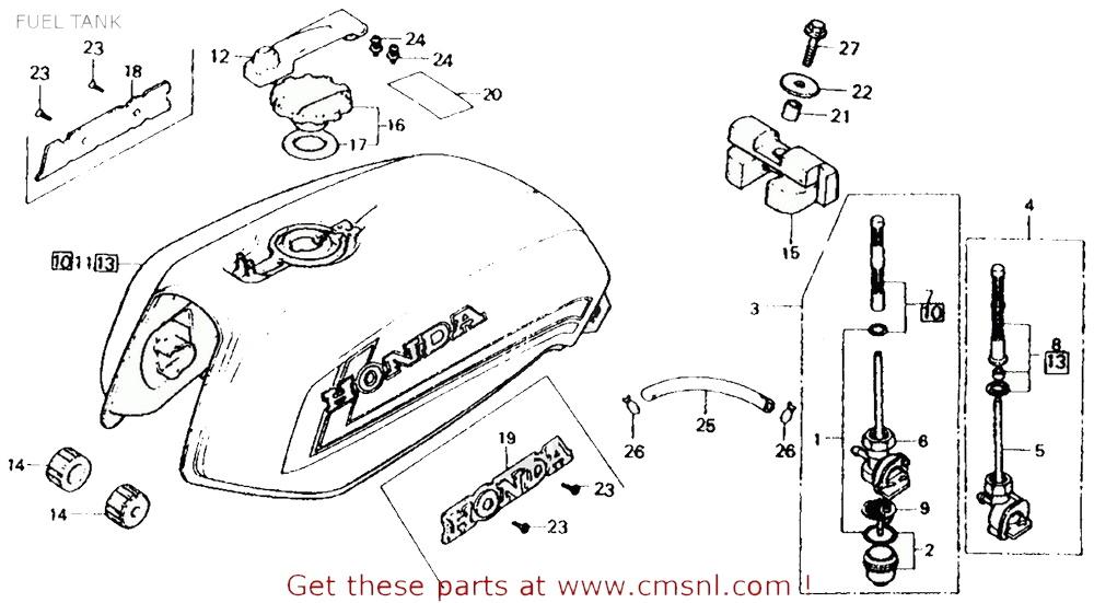 CMS シーエムエス 燃料コック (16950438305) COCK ASSY.,FUEL CB750F 750 SUPER SPORT (Z) USA