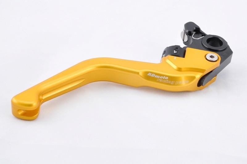 RDmoto アールディーモト アジャスタブルブレーキレバー ショート(Adjustable brake lever - SHORT) アジャストカラー:ゴールド レバーカラー:レッドアルマイト 1400GTR