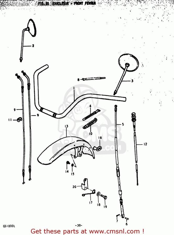 CMS シーエムエス フロントフェンダー (53110-45311) FENDER,FRONT