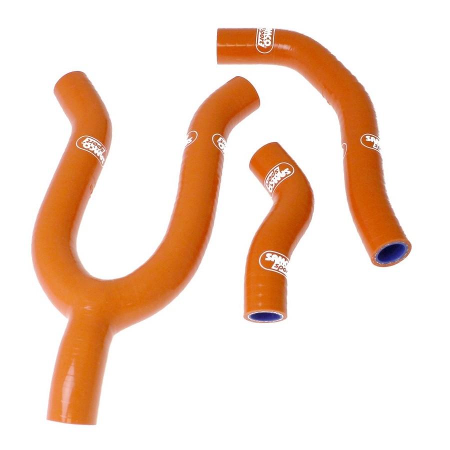 SAMCO SPORT サムコスポーツ ラジエーター関連部品 クーラントホース(ラジエーターホース) カラー:ソーラーオレンジカモ (限定色) 450 SXS-F 2008-2010