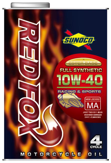 半額 SUNOCOスノコ メーカー再生品 4サイクルオイル RED FOX レッドフォックス 容量:1L スノコ SUNOCO 全合成オイル 10W-40
