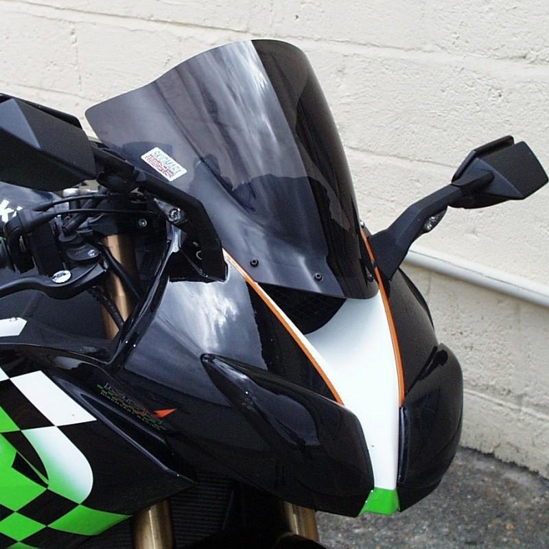Skidmarx スキッドマークス ウィンドスクリーン ダブルバブルタイプ カラー:ダークスモーク ZX-10 R ZX-6R