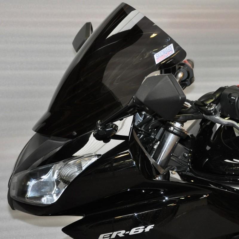 【ポイント5倍開催中!!】Skidmarx スキッドマークス ウィンドスクリーン ダブルバブルタイプ カラー:ライトスモーク ER-6f NINJA 400 R NINJA 650 R