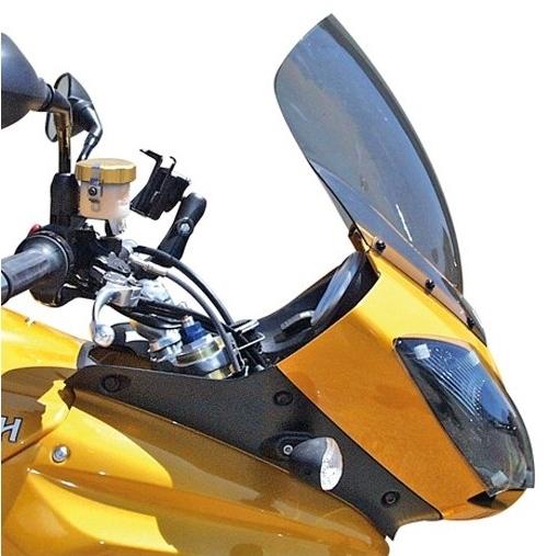 【ポイント5倍開催中!!】Skidmarx スキッドマークス ウィンドスクリーン ダブルバブルタイプ カラー:クリア Tiger1050 2007-2013