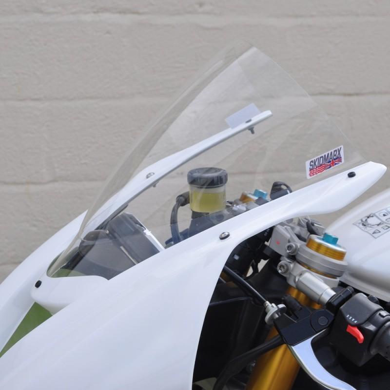 Skidmarx スキッドマークス ウィンドスクリーン ダブルバブルタイプ カラー:クリア Daytona 675 2013-