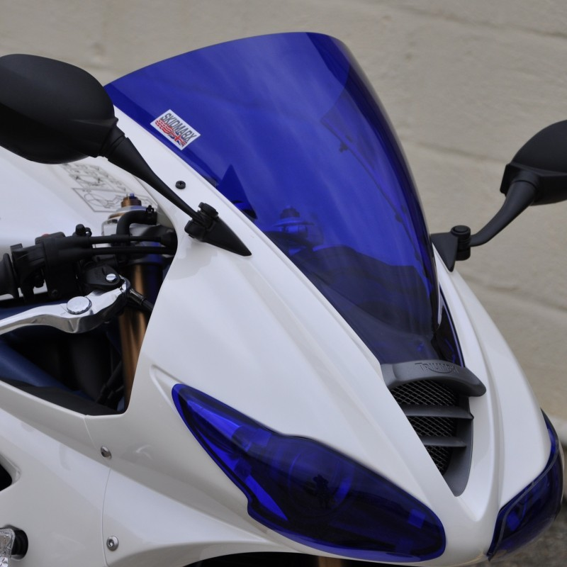 【ポイント5倍開催中!!】Skidmarx スキッドマークス ウィンドスクリーン ダブルバブルタイプ カラー:ダークスモーク Daytona 675 2009-12