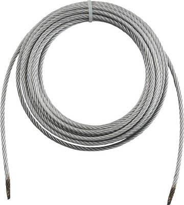トラスコ中山 工業用品 TRUSCO 手動ウインチ用ワイヤーΦ12×30M用(切りっ放し)