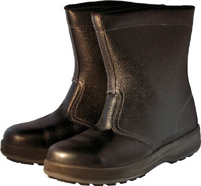 TRUSCO トラスコ中山 工業用品 シモン 安全靴 半長靴 WS44黒 28.0cm