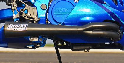 Brock's ブロックス フルエキゾーストマフラー ステンレスサイドワインダー メガホン ブラック GSX-R1000