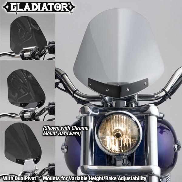 National Cycle ナショナルサイクル Gladiator(R)レーキ 高さアジャスタブルウインドシールド (Gladiator (R) Height/Rake Adjustable Windshield)
