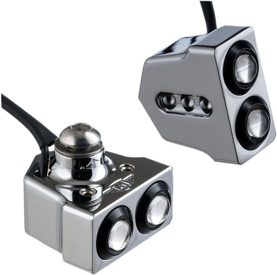 JOKER MACHINE ジョーカーマシーン LEDウインカーサイドマウントアンバー CR 【LED T-SIG SIDEMT AMBER CR [2020-1296]】