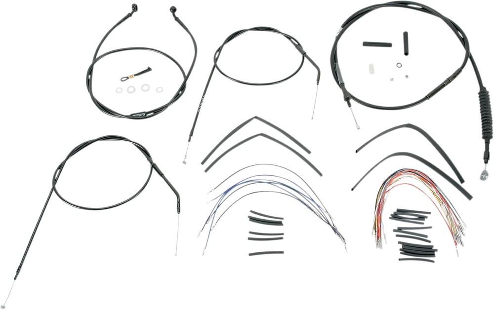 BURLY BRAND バーリーブランド スロットルワイヤー・クラッチワイヤー・チョークケーブル バーマウントキット 97-03XL 16 【BAR INSTALL KT 97-03XL 16 [0610-0266]】