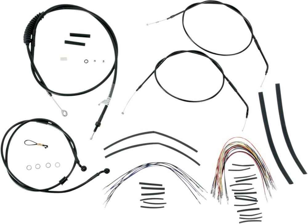 BURLY BRAND バーリーブランド スロットルワイヤー・クラッチワイヤー・チョークケーブル バーマウントキット 07-13XL 14 【BAR INSTALL KT 07-13XL 14 [0610-0271]】