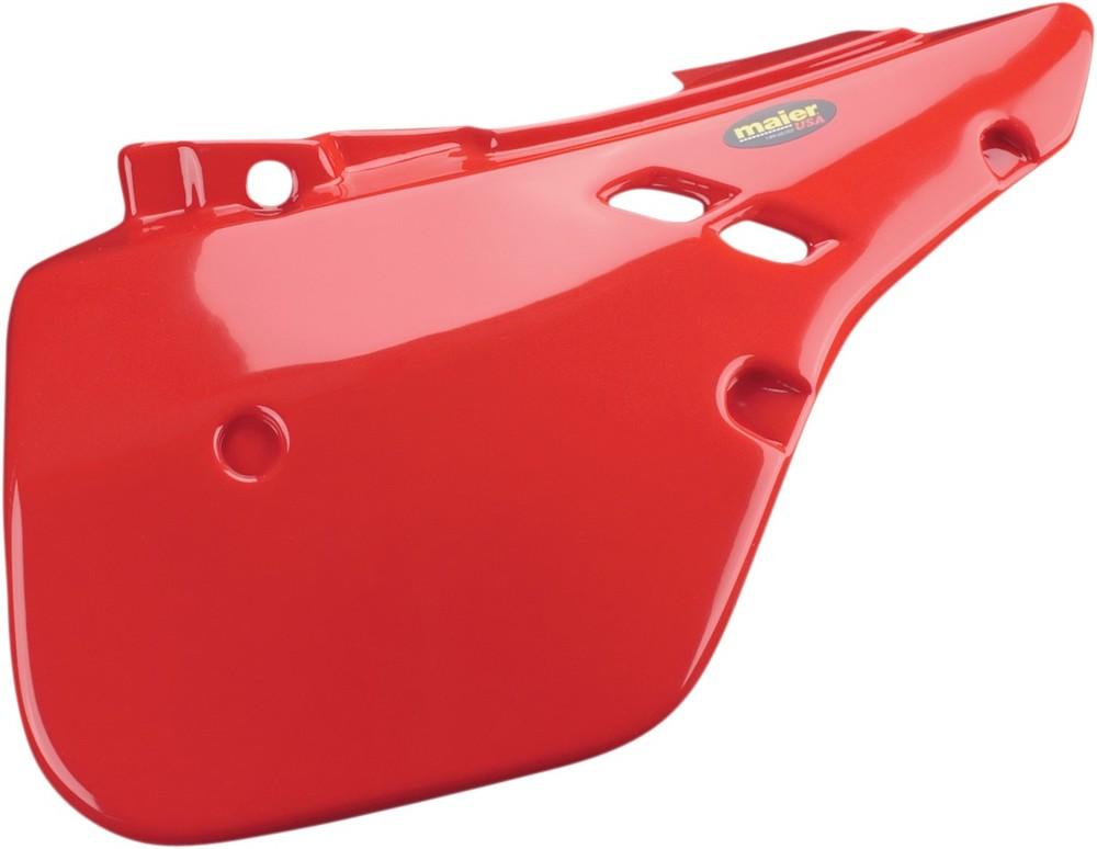 MAIER メイヤー サイドプレート レッド CR125 1987-88用【SIDEPLATES CR125 87-8 RED [M20603R]】 CR125R CR250R 1987 CR500R 1987 - 1988