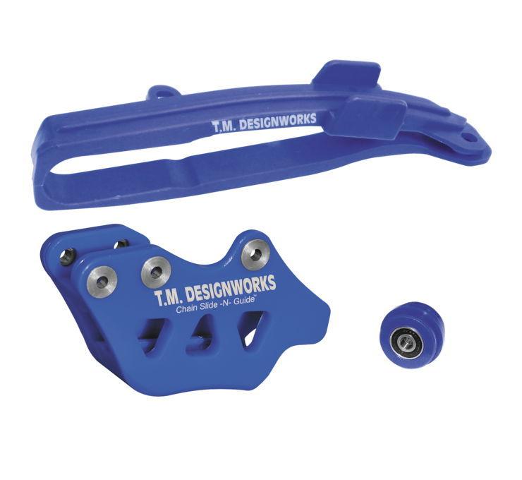 スイングアーム DIRT CROSS マルチ-パーパスチェーン Slide-N-Guideキット 【Dirt Cross Multi-Purpose Chain Slide-N-Guide Kits】 Color:Blue [971700]