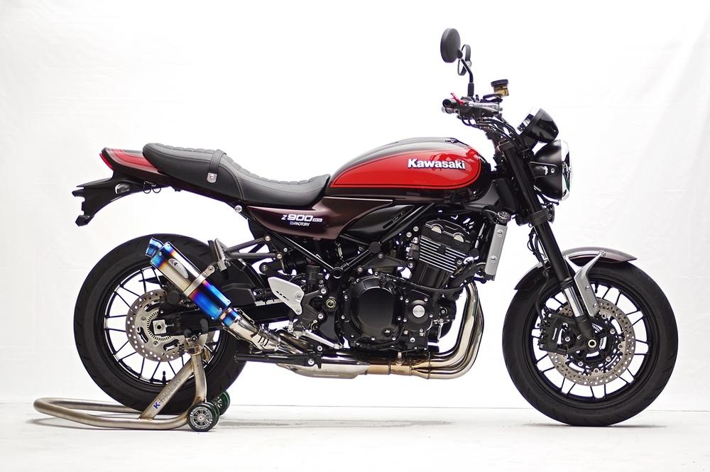 K-FACTORY Kファクトリー ケイファクトリー スリップオンマフラー 【車検対応】 STPスリップオン/MotoGP オーバルサイレンサー Z900RS Z900RS CAFE