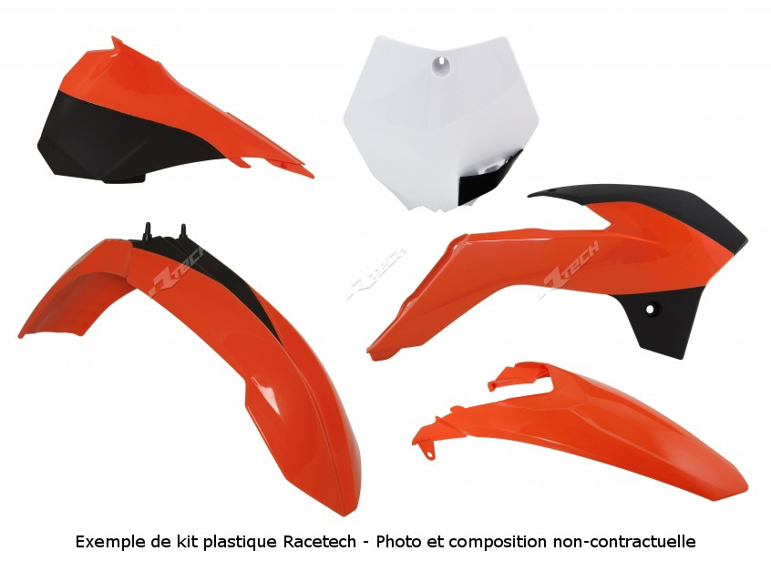 RACETECH レーステック プラスチックキット オリジナルカラー オレンジ KTM SX/SX-F 125 ET +【【ヨーロッパ直輸入品】Kit Plastiques Color Origin Orange Ktm Sx/Sx-F 125 Et +】 SX125 SX250 SX520 RACING SX525 RACING