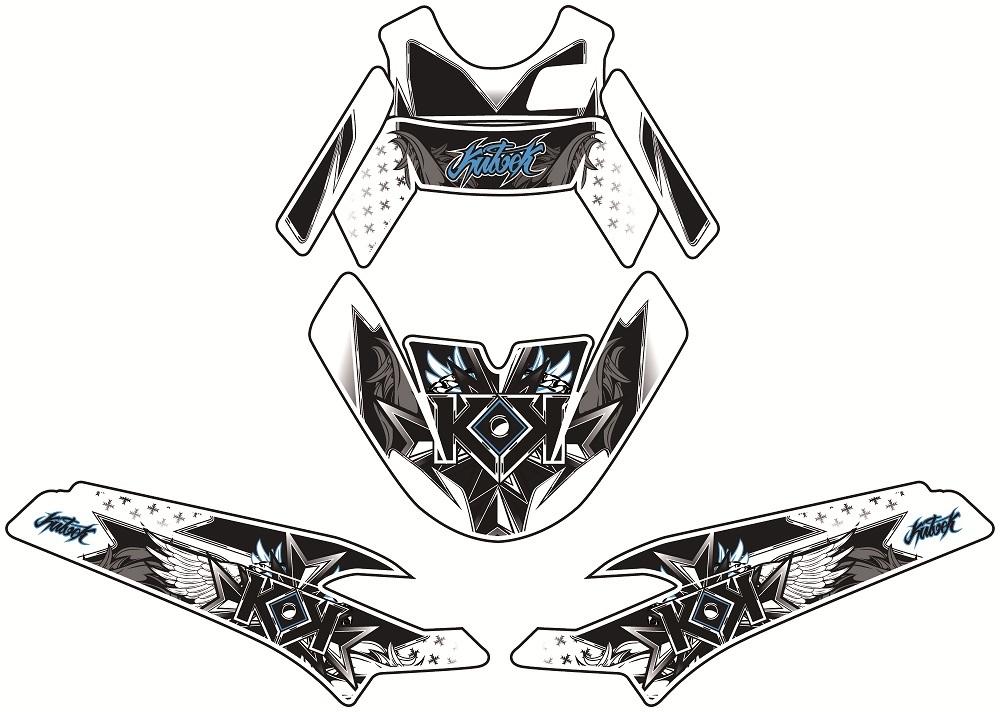 クヴェック ステッカー・デカール KUTVEK DEMON グラフィックキット PEUGEOT SPEED FIGHT III【Kutvek graphic kit demon Peugeot Speedfight III】【ヨーロッパ直輸入品】
