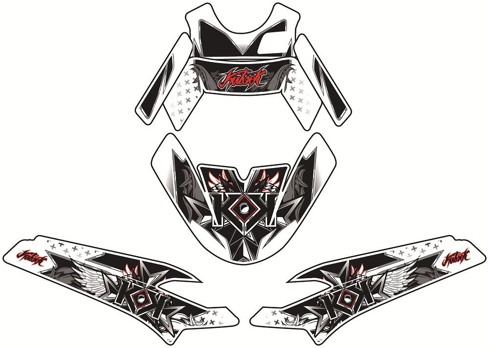 クヴェック ステッカー・デカール KUTVEK DEMON グラフィックキット MBK STUNT【Kutvek graphic kit demon MBK Stunt】【ヨーロッパ直輸入品】