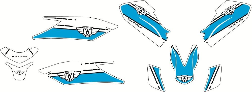 クヴェック ステッカー・デカール KUTVEK COOPER グラフィックキット YAMAHA X-Max 400【Kutvek Cooper graphic kit Yamaha X-Max 400】【ヨーロッパ直輸入品】